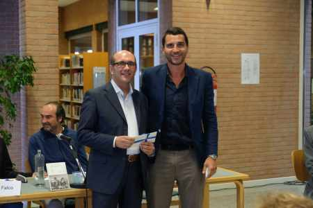 Maurizio Gazzarri insieme a Luca Murta di Fondazione CRB bis